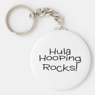 Hula Hooping Rocks Keychain
