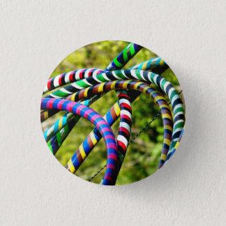 Hula Hoops Pinback Button