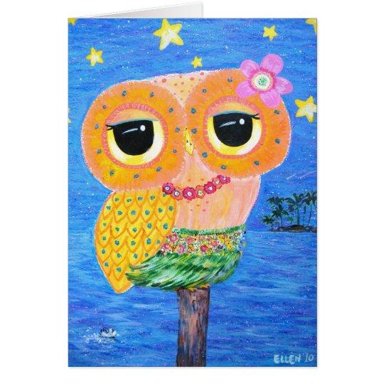 Hula Hoot Card