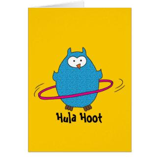 Hula Hoot Owl Cards