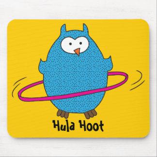Hula Hoot Owl Mouse Pad