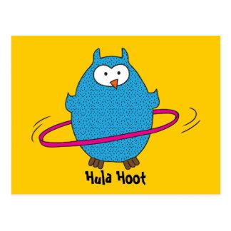 Hula Hoot Owl Postcard