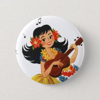Hula Hula Girl Button