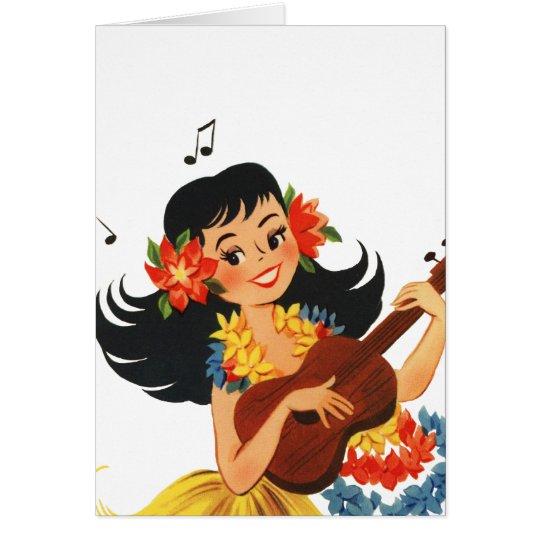 Hula Hula Girl Card