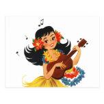 Hula Hula Girl Post Card