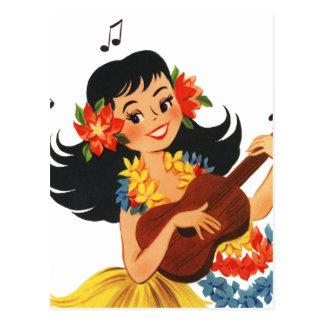 Hula Hula Girl Postcard