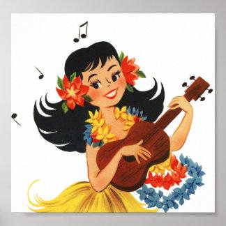 Hula Hula Girl Posters