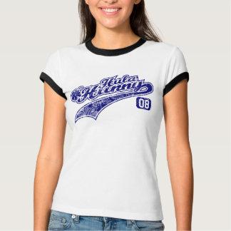 Hula Hunny baseball lettering ringer tee