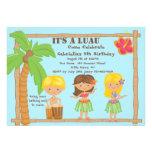 Hula Kids Luau Birthday Invitation