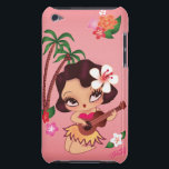 "Hula Lulu Case Mate<br><div class=""desc"">Adorable vintage inspired hula girl playing the ukele. Her name is Hula Lulu! An original Fluff design by artist,  Claudette Barjoud.</div>"