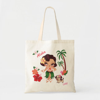 Hula Lulu Dancing- Tote by Fluff Budget Tote Bag
