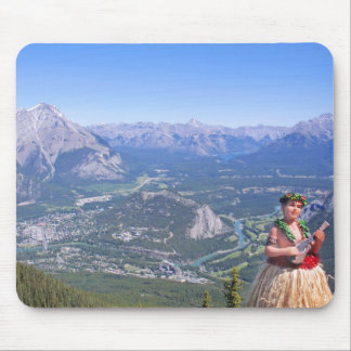 Hula Man in Banff, Canada Mouse Pad