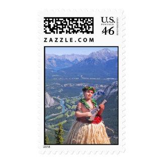 Hula Man in Banff, Canada Postage