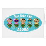 Hula Monkey Club ALOHA Card