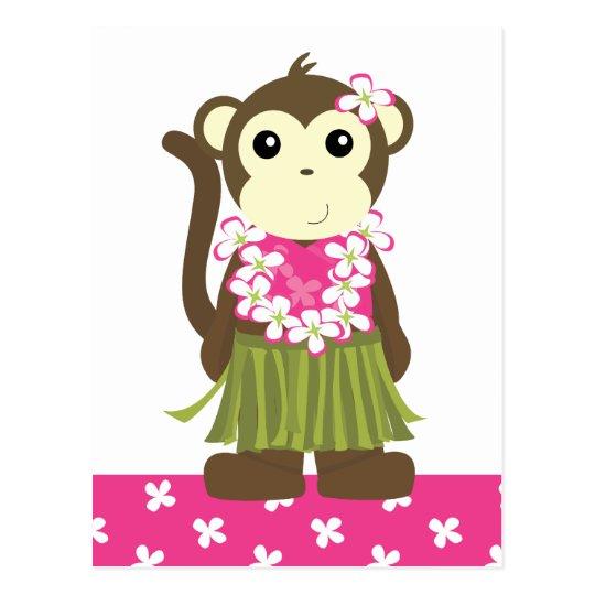 Hula Monkey Postcard