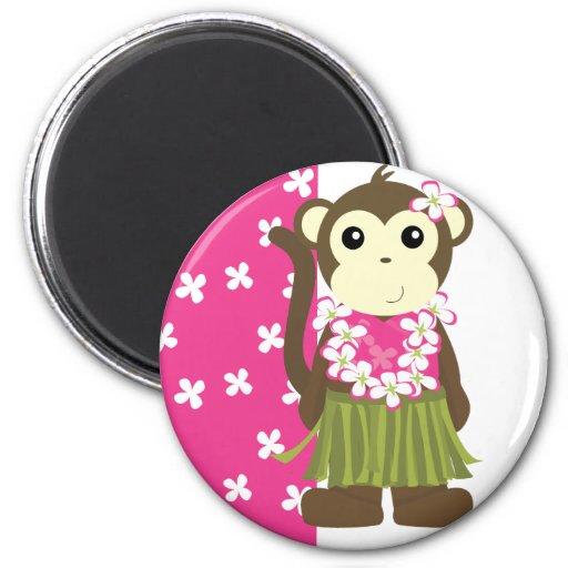 Hula Monkey Refrigerator Magnets