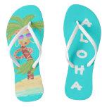 Hula Palm flip flops