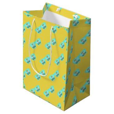 Beach Themed Hula Palm Sunglasses gift baj Medium Gift Bag