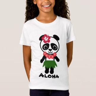 Hula Panda - Girls Baby Doll (Fitted) T-Shirt