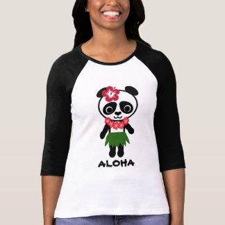 Hula Panda Ladies Raglan Fitted T-Shirt