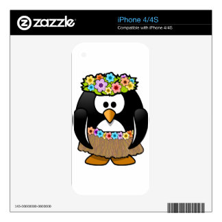 Hula Penguin iPhone 4S Decals