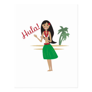 Hula! Postcard