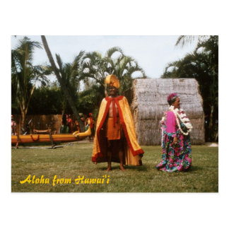 Hula Show Postcard