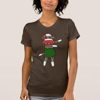 Hula Sock Monkey by lil kolohe Jessica T-Shirt