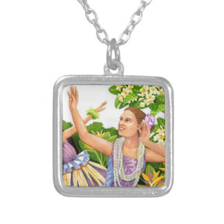 Hula Square Pendant Necklace