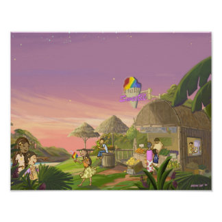 "Hula Sweetie 14"" x 11"" Poster"