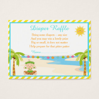 Hula Tropical Boy Diaper Raffle Business Card