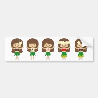 HulaGirls2 Bumper Stickers