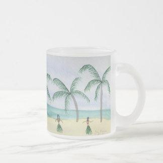 Hulas en las tazas y el Drinkware de la playa