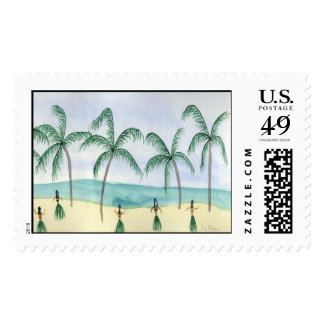 Hulas on the Beach Custom Postage