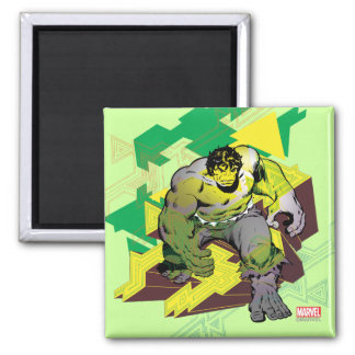 Hulk Abstract Graphic 2 Inch Square Magnet
