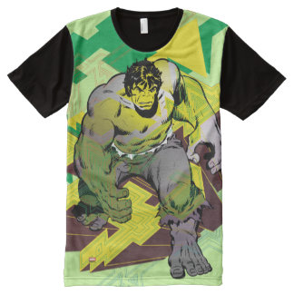 Hulk Abstract Graphic All-Over Print T-shirt