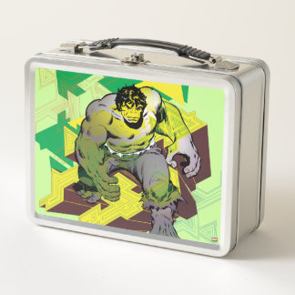 Hulk Abstract Graphic Metal Lunch Box