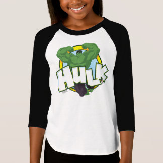 Hulk Character and Name Graphic T-Shirt