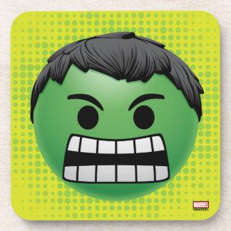 Hulk Emoji Beverage Coaster
