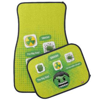 Hulk Emoji Car Floor Mat