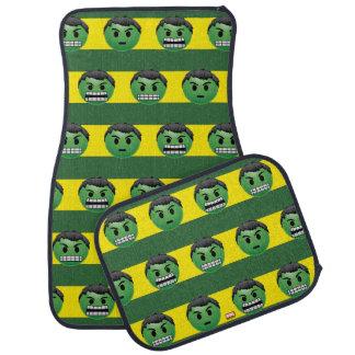 Hulk Emoji Stripe Pattern Car Floor Mat