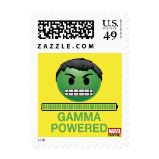 Hulk Gamma Powered Emoji Postage