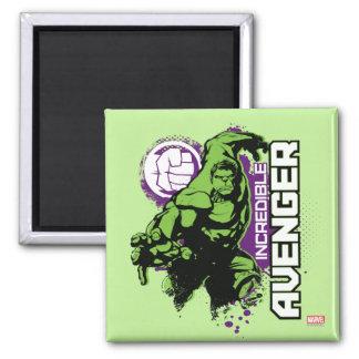 Hulk Incredible Avenger 2 Inch Square Magnet