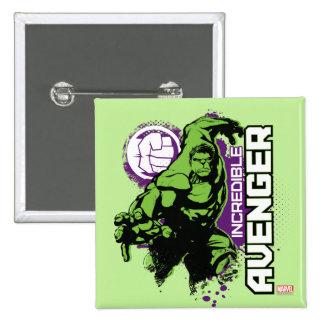 Hulk Incredible Avenger Button