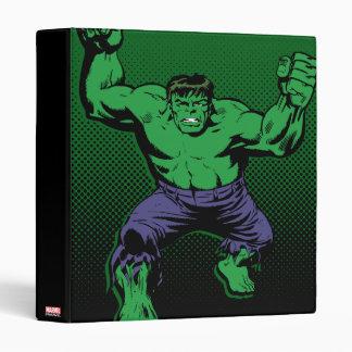 Hulk Retro Arms 3 Ring Binder