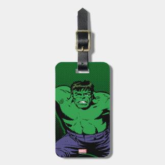 Hulk Retro Arms Luggage Tag