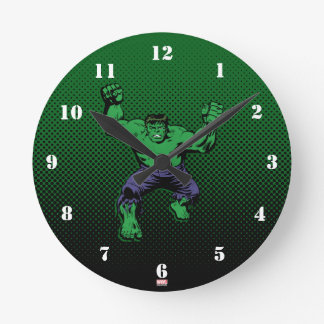 Hulk Retro Arms Round Clock