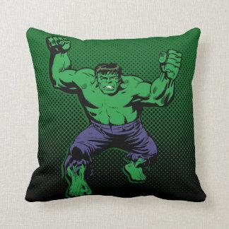 Hulk Retro Arms Throw Pillow