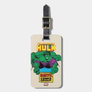 Hulk Retro Comic Character Bag Tag