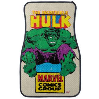 Hulk Retro Comic Character Car Mat